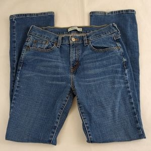 Levis 515 Blue Jeans Size 8 M Boot Cut Whiskered